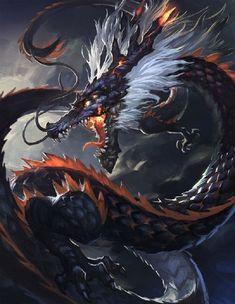 The surrealism around this beast matches with the surrounding background Fantasy Beasts, Fantasy Dragon, Dark Fantasy Art, Fantasy Artwork, Mythical Creatures Art, Mythological Creatures, Magical Creatures, Dragon Artwork, Dragon Drawings