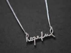 Hopeful Necklace // The Hopeful Shop (Carrie Hope Fletcher)