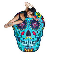 This beautiful Gigantic Sugar Skull Beach Blanket pays tribute to the timeless, iconic design of the festive sugar skull. Even better, you can soak up some rays