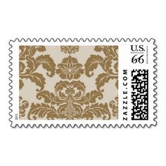 Precioius Metal Gold Damask by Ceci New York Stamps