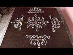 Basic Mehndi Designs, Simple Rangoli Designs Images, Rangoli Designs Flower, Rangoli Border Designs, Rangoli Designs Diwali, Rangoli Designs With Dots, Rangoli With Dots, Beautiful Rangoli Designs, Free Hand Rangoli Design