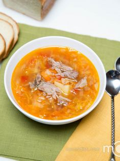 This is a common Russian soup, called Kapusniak. Cabbage soups are becoming diet foods nowadays. It's so delicious, that it's hard to believe that it's considered a diet meal.