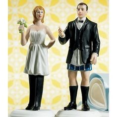 hahaha I wear the pants in this relationship Baby! Bride in charge/Groom Not Wedding cake topper.... ((LMAO--too funny!! I would never actually use this but it's hilarious!))