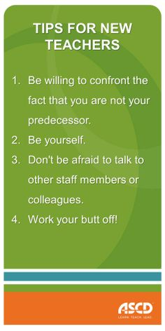 This article from ASCD's Education Update is filled with great advice for starting a new position in a school. Click on the image for more advice.