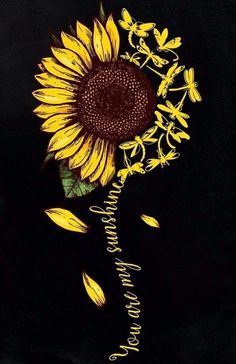 Sunflower Quotes, Sunflower Pictures, Sunflower Art, Sunflower Tattoos, Body Art Tattoos, New Tattoos, Cool Tattoos, Tatoos, Sunflower Wallpaper