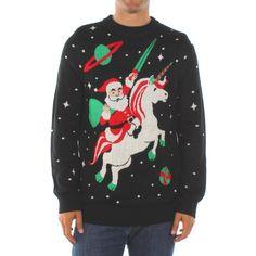 Men's Santa Unicorn Sweater by Tipsy Elves