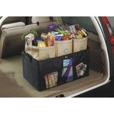 shopping bag organizer for the car trunk | Folding Cargo Bag Car Trunk Organizer review at Kaboodle