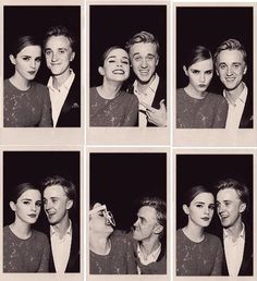 blackandwhite, cute, draco malfoy, dramione, emma watson, friends, funny, h, hermione granger, love, photography, sepia, smile, tom felton