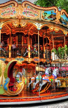 Merry Go Round by Dave Mills Our father took the family to Lakeside Amusement Park in Salem in the 50s Several times. My favorite ride.