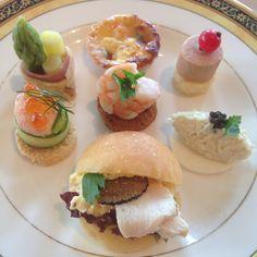 Ritz Tokyo afternoon tea, savory foods (minus the cherry tomato caprese)