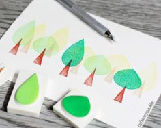 Popular items for tree rubber stamp on Etsy