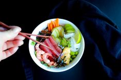 Chirashi Sushi Superfood Recipe Chirashizushi Minimal Japanese Dish With Seafood Or Vegetarian Rice Bowl Easy by Sabrina Currie West Coast Kitchen Garden Tuna Ceviche, Ceviche Recipe, Superfood Recipes, Healthy Recipes, Sushi Ingredients, Sushi Bowl, Japanese Dishes, Easy Smoothies, Cooking Wine