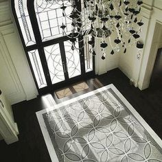 Entrances Foyers - Marble Floor Tile - Design photos, ideas and inspiration. Amazing gallery of interior design and decorating ideas of Marble Floor Tile in entrances/foyers by elite interior designers. Entryway Flooring, Entryway Wall, Door Entry, Entrance Foyer, Entrance Ways, Marble Floor, Tile Floor, Marble Mosaic, Apartment Therapy