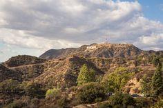 hollywood sign gray clouds green hillside devon0804
