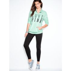 Legging from Victoria's Secret. Shop more products from Victoria's Secret on Wanelo. Outfits For Teens, Casual Outfits, Cute Outfits, School Outfits, Pink Outfits, Women's Casual, Winter Outfits, Vs Leggings, Leggings Fashion