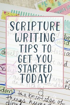 The Ultimate Guide To Scripture Writing [Hand Writing Bible Verses] - Embracing the Lovely Bible Study Notebook, Bible Study Plans, Bible Study Tips, Bible Study Journal, Scripture Study, Bible Art, Art Journaling, Prayer Journals, Scripture Journal