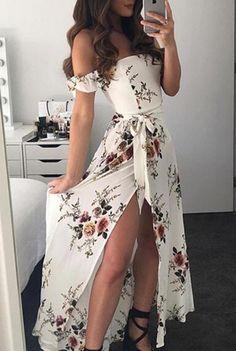 70373ee5b4e DŁUGA SUKIENKA MARIA biala Beach Dresses