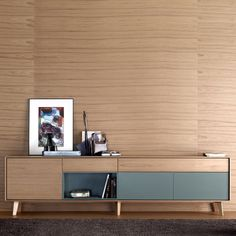 Sideboard with long legs / high / contemporary / walnut - AURA by Angel Martí & Enrique Delamo - TREKU Tv Furniture, Cabinet Furniture, Modern Furniture, Furniture Design, Furniture Stores, Dining Room Sideboard, Console, Design Industrial, Muebles Living