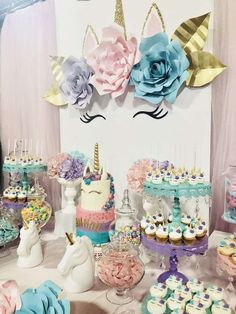 Unicorns Birthday Party Ideas for kid's birthday party. In order to build up sense of ritual, celebrating birthday with a wonderful birthday party from one year old. Hope you guys could get inspired from this gallery.