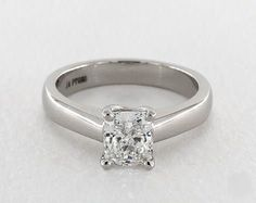 1.2ct Cushion Solitaire Engagement Ring in 360-HD SuperZoom (Platinum)
