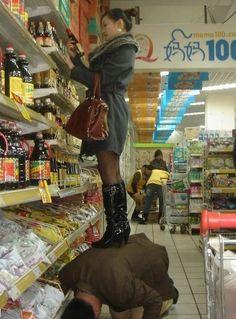 très utile un foot slave pendant vos courses !!!