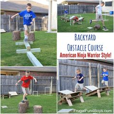 This backyard obstacle course is easy to create and will lead to hours of outdoor fun.