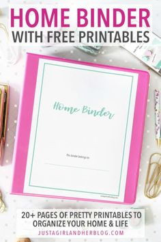 Grab our home binder with free printables to help you organize your time, goals, projects, household, and more!