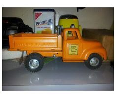 1956 Orange Hydraulic Tonka Toys Truck