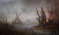Swamp Location by AlynSpiller.deviantart.com on @DeviantArt