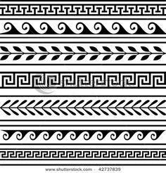 greek vase pattern design - Google Search