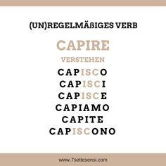 Italian verbs: In Italian, there are many verbs that are irregular. Italian Verbs, Basic Italian, Reflexive Verben, Italian Quotes, Music Pics, Italian Language, Learning Italian, Expressions, Knowledge