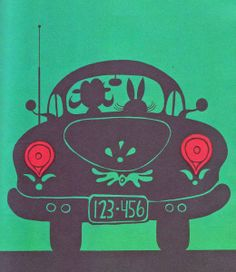 Green Says Go Ed Emberley ~ Thomas Y. Crowell, 1966