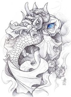 Koi fish! Revise it to go with the tribal koi fish tattoo.