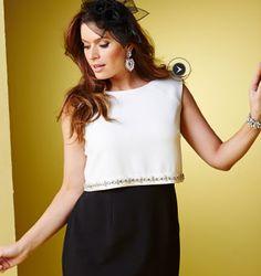 JOANNA HOPE Jewel Trim Contrast Dress  Product Code: MC157JN  £80