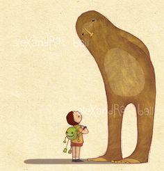 Alexandra Ball  sasquatch, bigfoot, yeti illustration