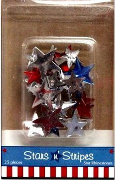 Stars & Stripes Rhinestones Stars Embellishments