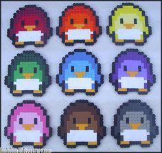leuke gekleurde pinguins