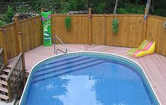 Above Ground Swimming Pool Oval Above Ground Pools, Above Ground Pool Steps, Above Ground Swimming Pools, In Ground Pools, Oberirdische Pools, Cool Pools, Semi Inground Pool Deck, Walk In Pool, Oval Swimming Pool
