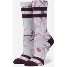Stance Fortune Crew Socks ($14) ❤ liked on Polyvore featuring intimates, hosiery, socks, elastic socks, arch support socks, stance socks, no seam socks and seamless socks