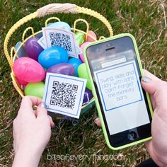 Smart Phone Easter Egg Hunt for Older Kids | Bits of EverythingBits of Everything