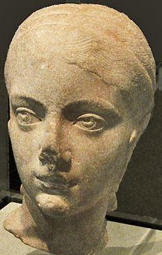 Head of Plautilla(2nd-3rd century CE), Augusta, wife of Emperor Caracalla. Rome, 202-205 CE. Getty Villa
