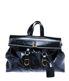 ysl green patent leather handbag downtown