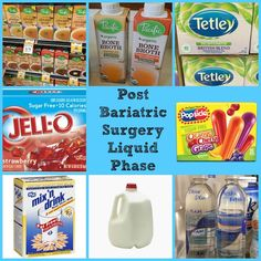 Bariatric Surgery Weight Loss Surgery - Liquid Phase Diet Recipes and Ideas, RNY… Bariatric Eating, Bariatric Recipes, Diabetic Recipes, Healthy Recipes, Pre Diabetic, Healthy Foods, Healthy Eating, Isagenix, Gastric Sleeve Diet
