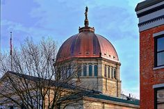 A new lightning protection system was installed while reroofing the Bradford County, PA courthouse. Lightning Rod, Bradford, Taj Mahal, Building, Life, Image, Beautiful, Buildings, Construction