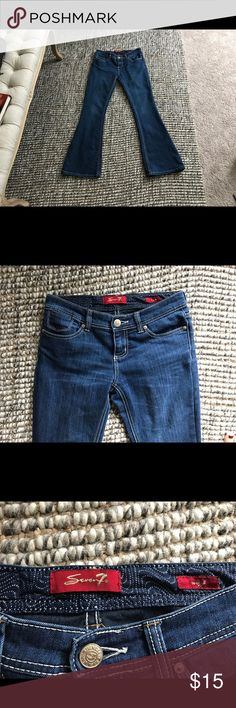 Seven Jeans Embroidered Pocket Flare Jeans Size 2P Seven Jeans Embroidered Pocket Flare Jeans Size 2P, in very good condition. Seven7 Jeans Flare & Wide Leg