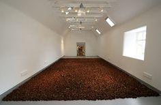 Artista londrino Anya Gallaccio cria linda instalação mostrando as fases da vida de 10.000 rosas.    Veja mais aqui