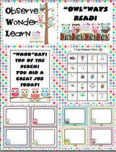 Owl Theme Classroom Back to School Mega Pack $