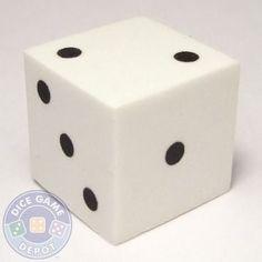 16mm Foam Dice - White