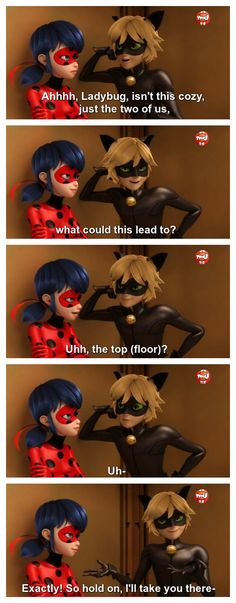 Keep tryin' kitten. (Miraculous Ladybug, Chat Noir flirting)