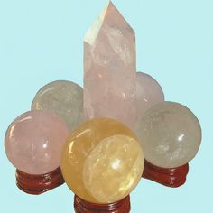 rose quartz//clear quartz//calcite by snowcrystals_